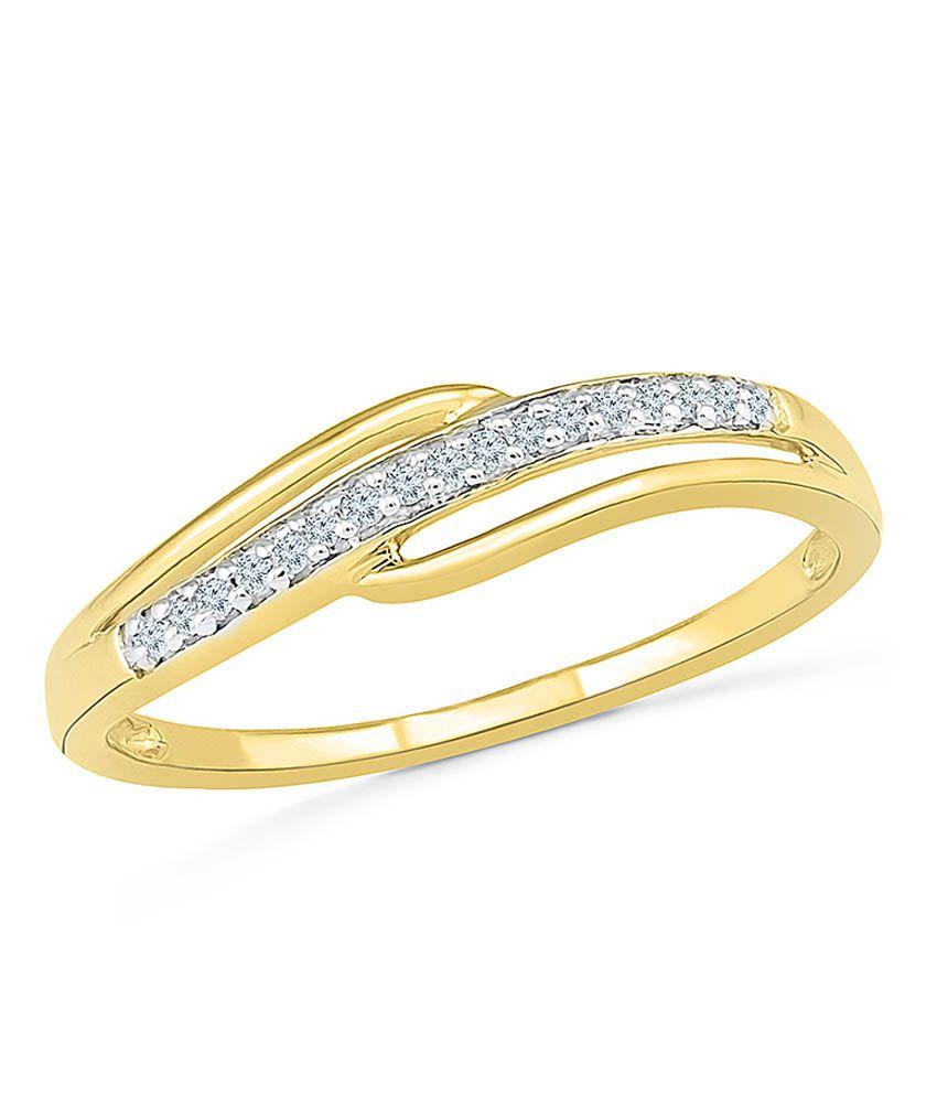 Radiant Bay 14Kt Yellow Gold Diamond Ring