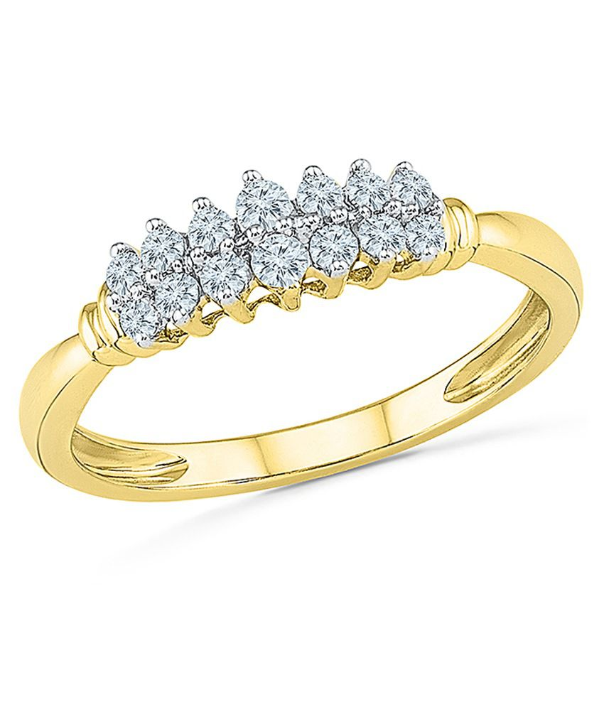 Radiant Bay 18Kt Yellow Gold Wedding & Engagement Designer Diamond Ring