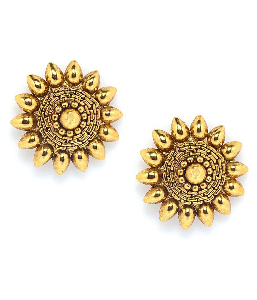 Alankruthi Golden Karnataka Stud Earrings
