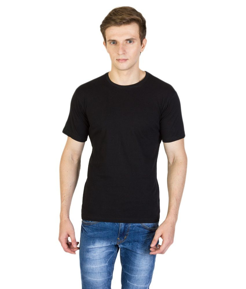 Poonam Garments Black Cotton Blend T-shirt Pack Of 11