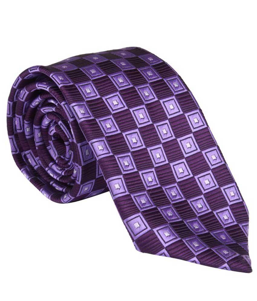 Aztek Purple Square Casual Broad Tie