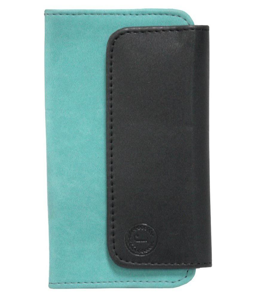 Jo Jo Flip Cover For Celkon A79-Blue & Black