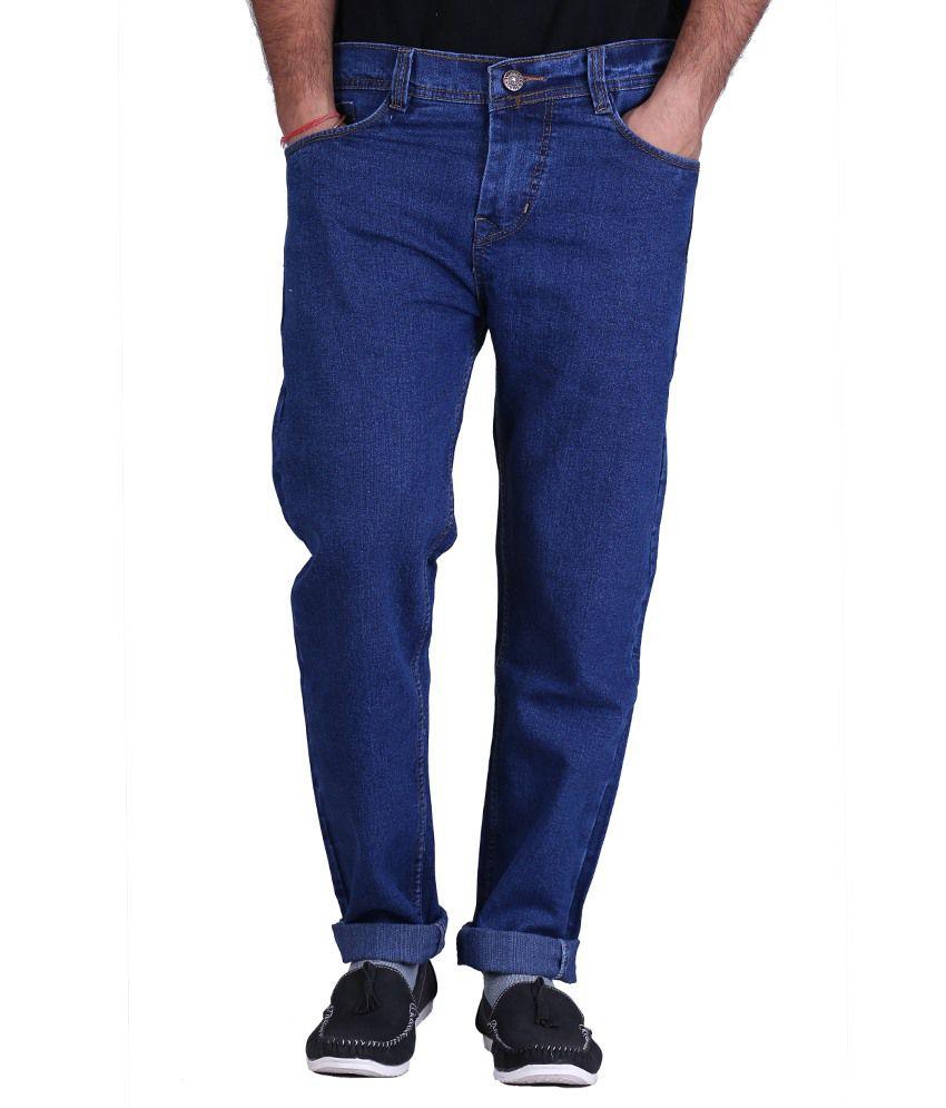 Kaasan Blue Cotton Blend Jeans