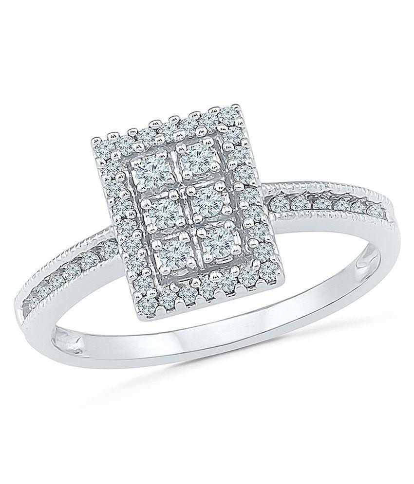 Radiant Bay 14Kt White Gold Ring