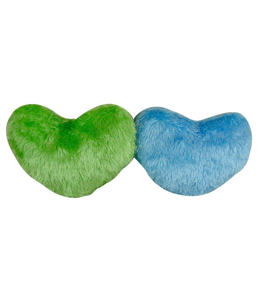 The Fancy Mart Multicolor Soft Heart Shape Cushions - Set of 2