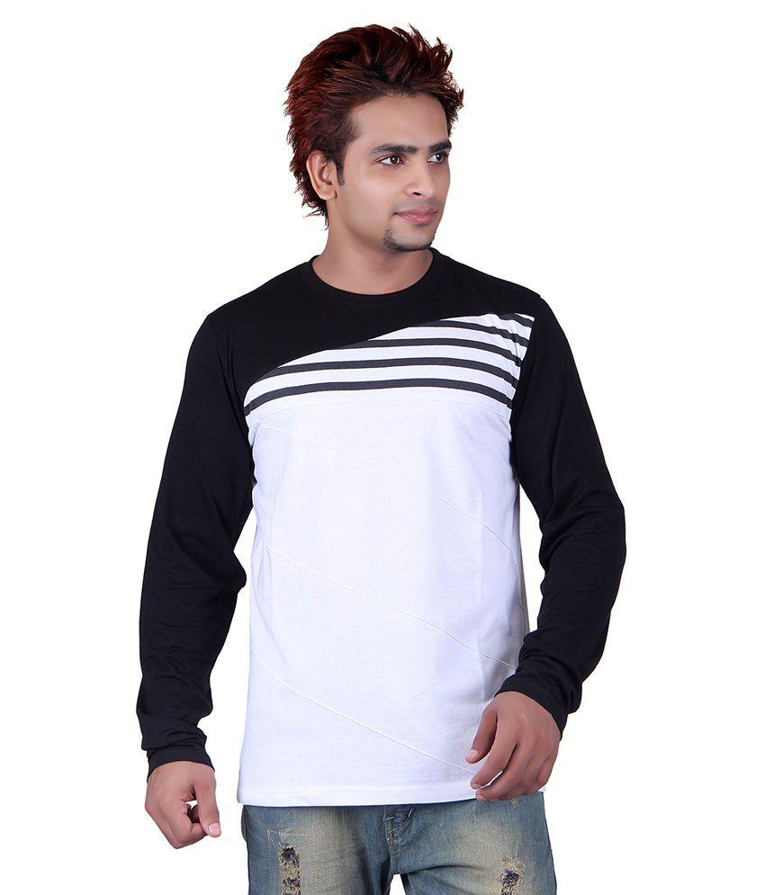 Vivid Bharti White Round T-Shirt