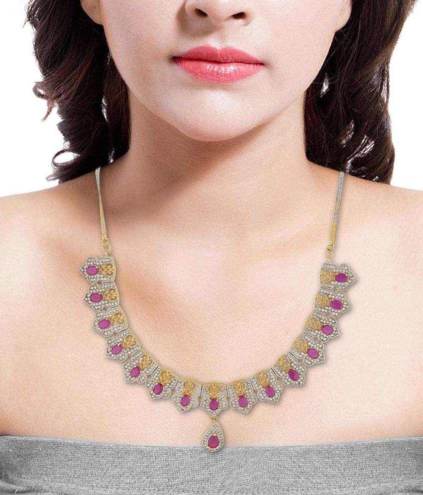 Voylla Golden Alloy Necklace Set