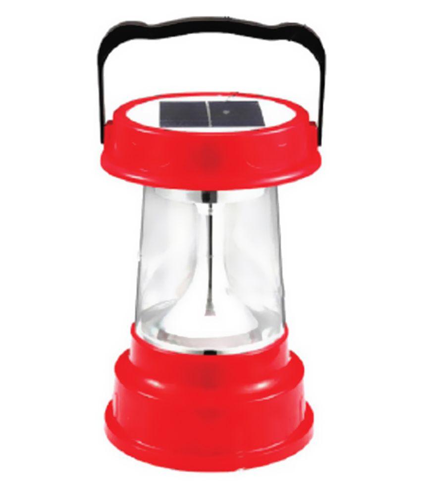 3S Solar 18W Red Round Solar Light