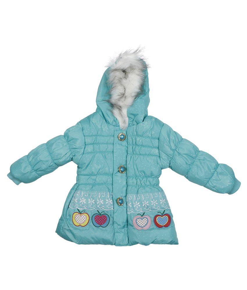 Addyvero Blue Faux Satin Full Sleeves Jacket with Hood