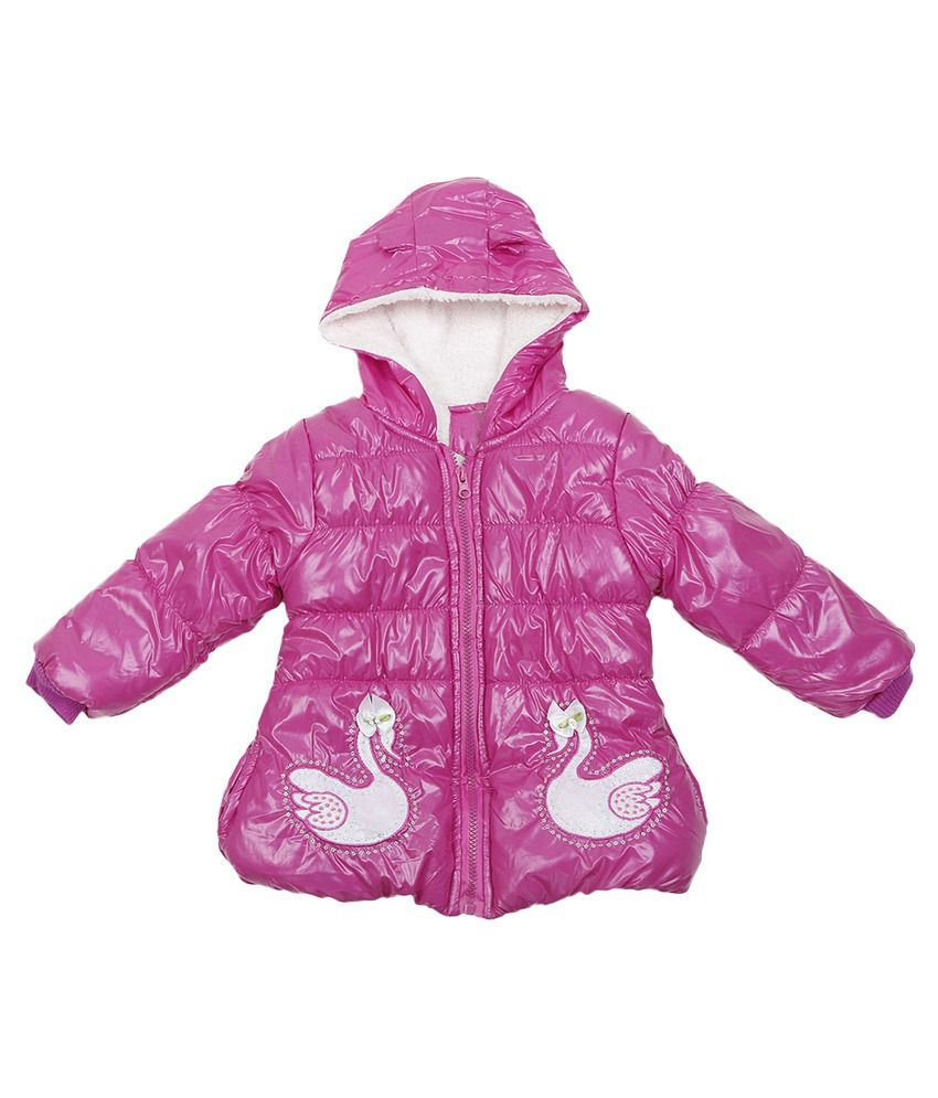 Addyvero Pink Faux Satin Full Sleeves Jacket with Hood