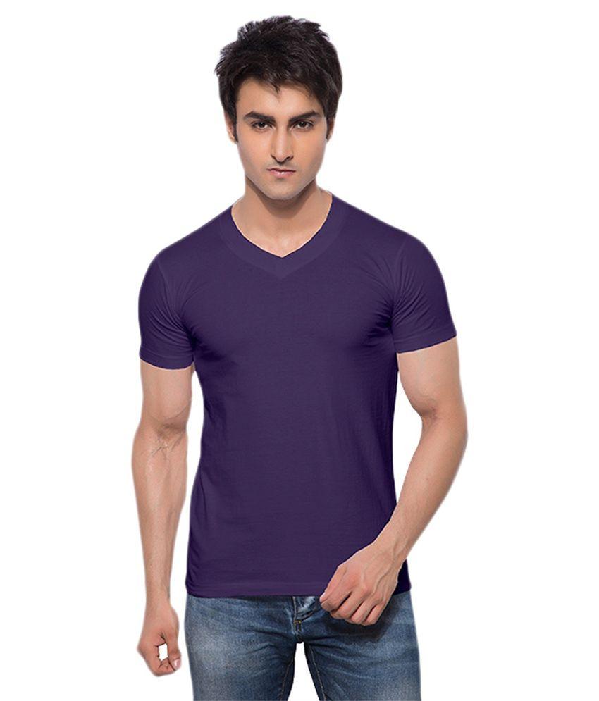 Alangar Silks And Readymades Purple Cotton T-shirt