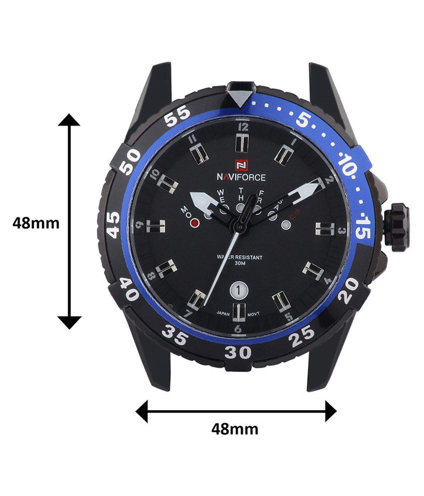 6e9903c2b12 Naviforce Black Stainless Steel Watch - Buy Naviforce Black Stainless Steel  Watch Online at Best Prices in India on Snapdeal