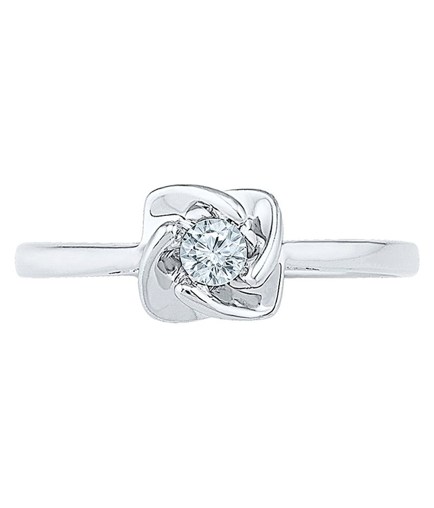 Radiant Bay 18k White and Gold (Diamond Quality VS-GH) Ring