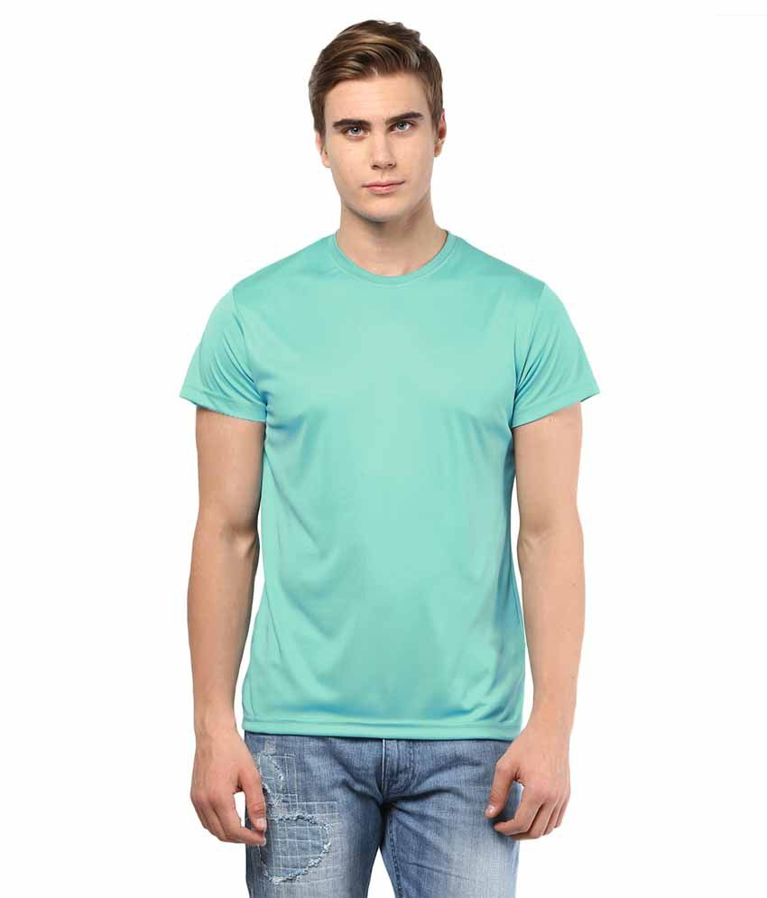 American Crew Turquoise Polyester T-Shirt