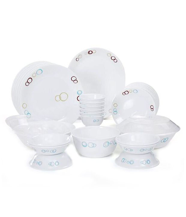 Corelle 30 Pcs Dinner Set Circles Buy Online At Best Price In India Snapdeal