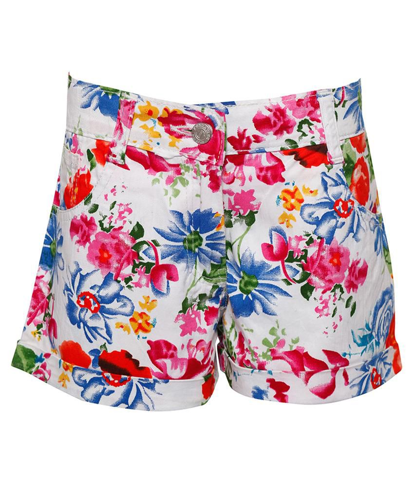 Joshua Tree White Cotton Shorts