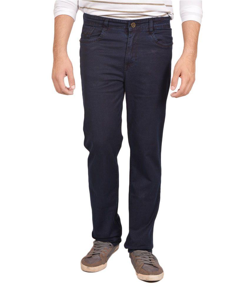 Allen Martin Navy Regular Fit Jeans