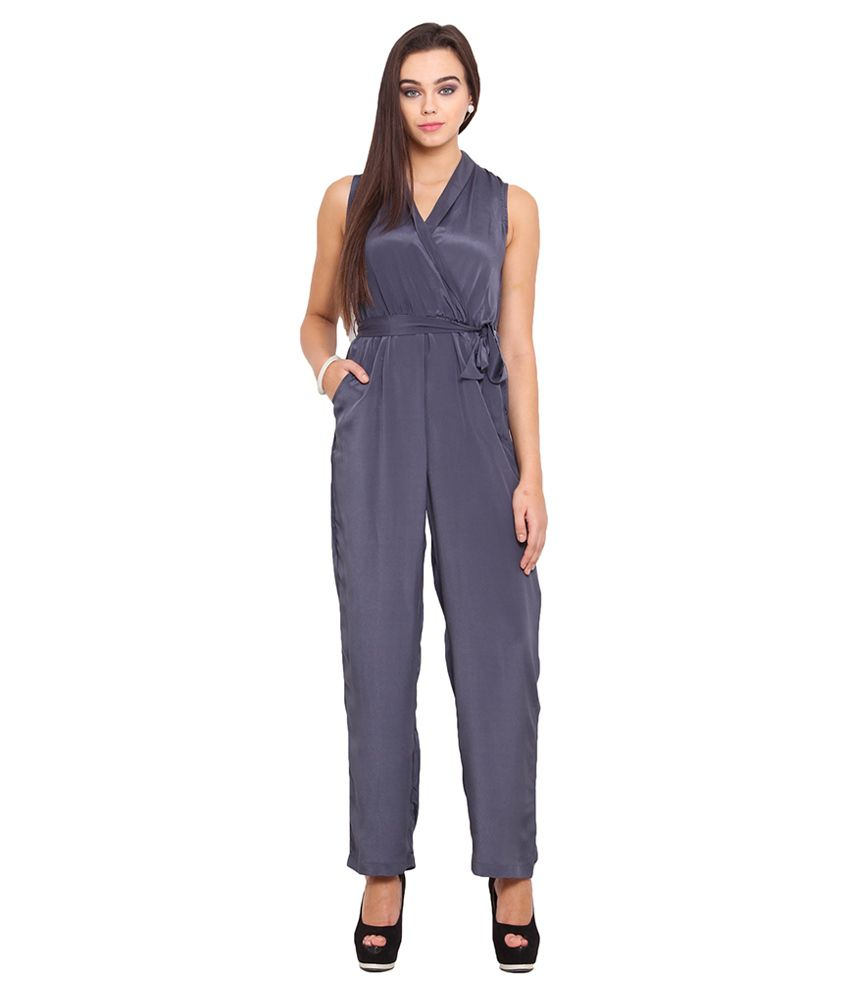 Anaphora Gray Polyester Jumpsuits