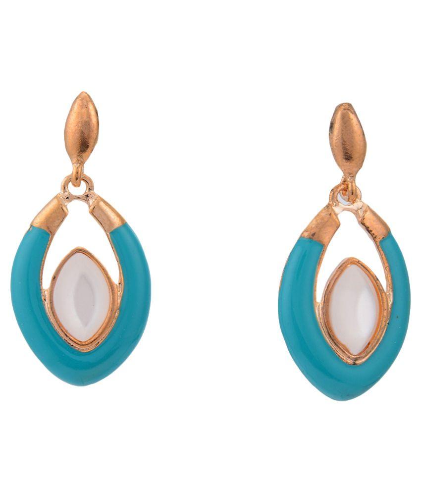 Arihant Jewels Blue Alloy Drop Earrings