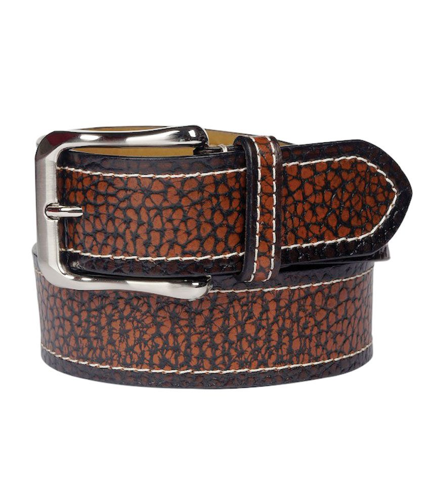 Leather Plus Brown Single Casual Belt For Men