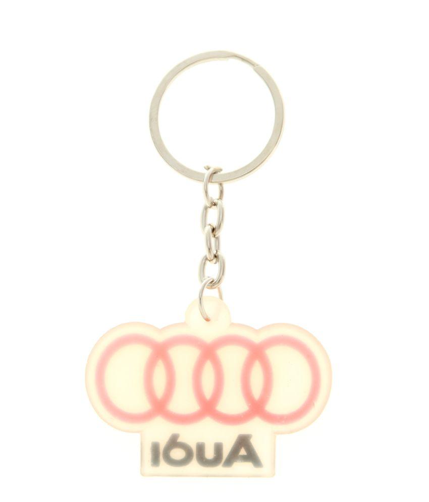 84dd36b4c Veevi Silicon Audi Car Logo Key Chain  Buy Veevi Silicon Audi Car ...