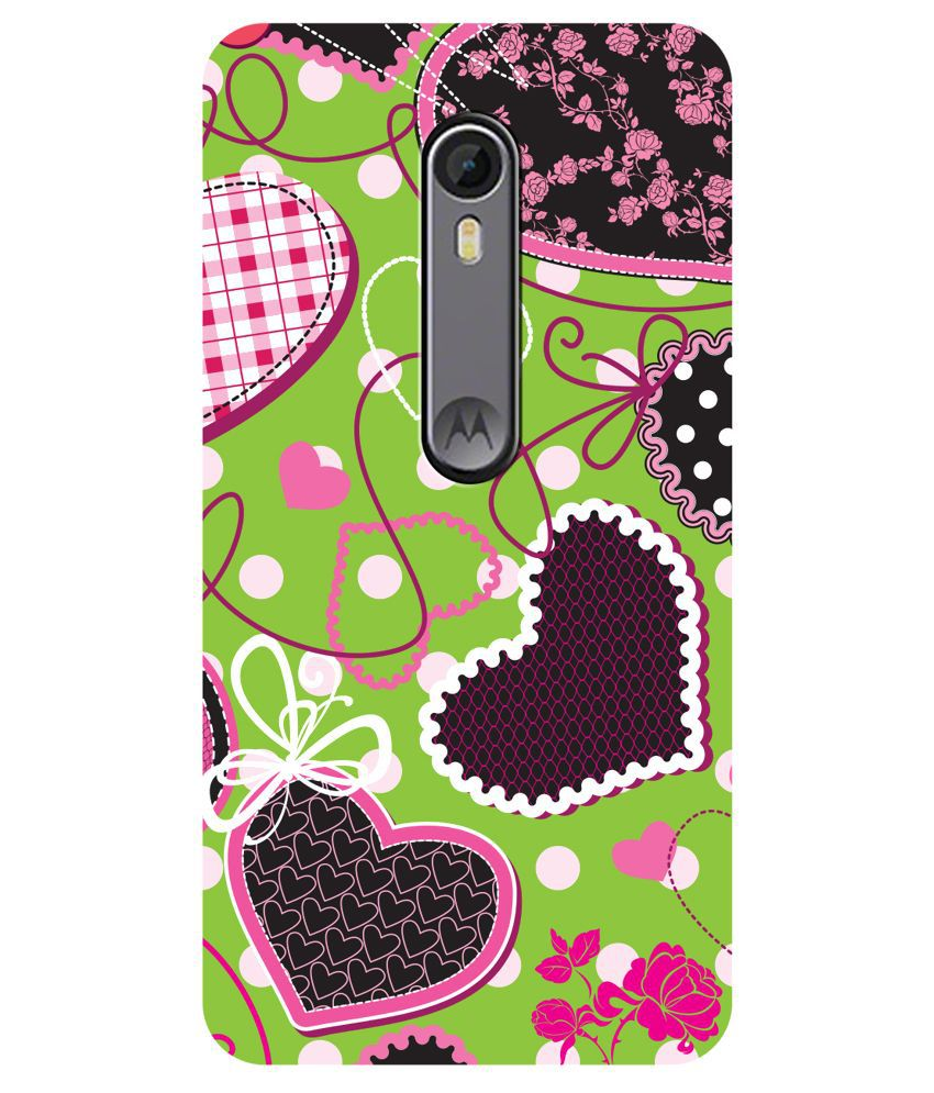 Zapcase Printed Back Cover for Motorola Moto X Style - Multicolour