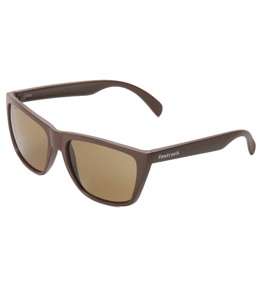 Fastrack P230BR2 Brown Wayfarer Sunglasses