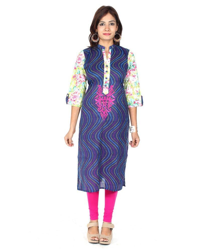 Kurti Jaipur Multicolour Cotton