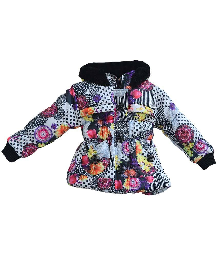 London Girl Black Padded Jackets For Girls