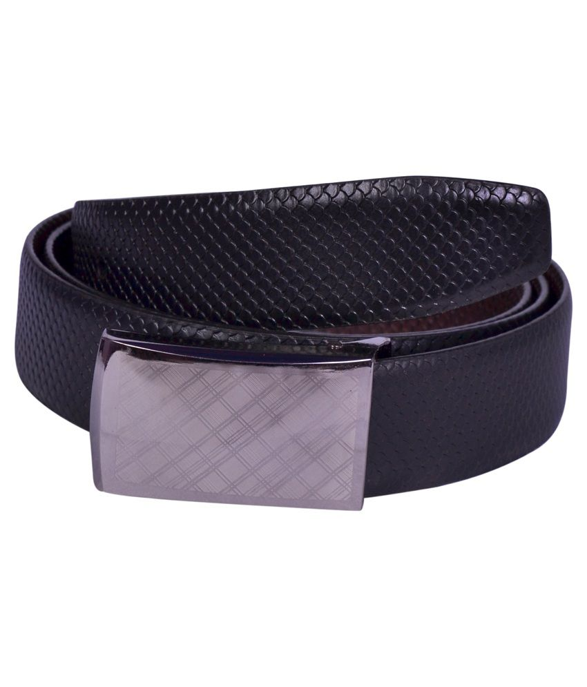 Aer Leather Black Leather Formal Belt For Men