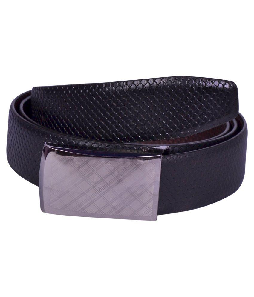 Aer Leather Black Leather Formal Belt For Men