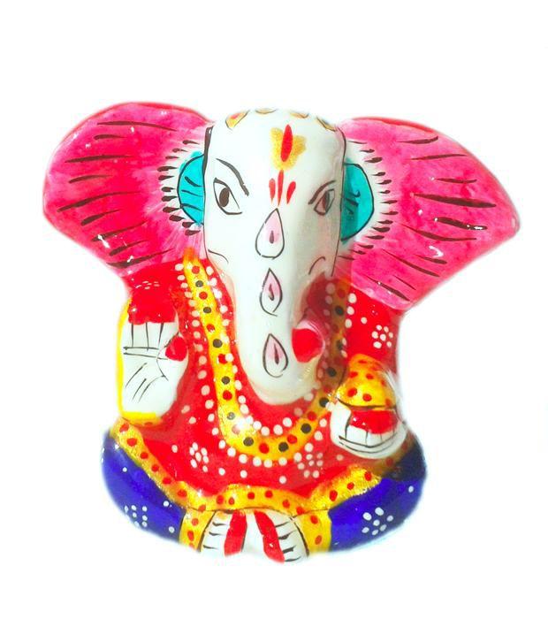 Arts Expo Glossy Aluminium Ganesh Statue