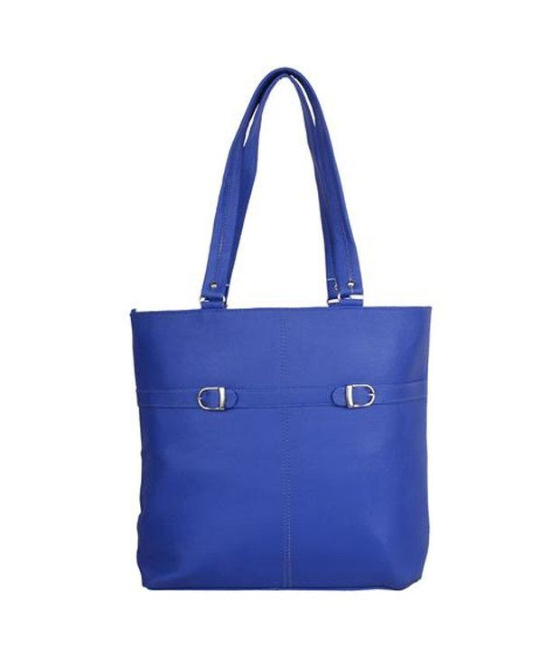 Gracetop Blue P.U. Shoulder Bag
