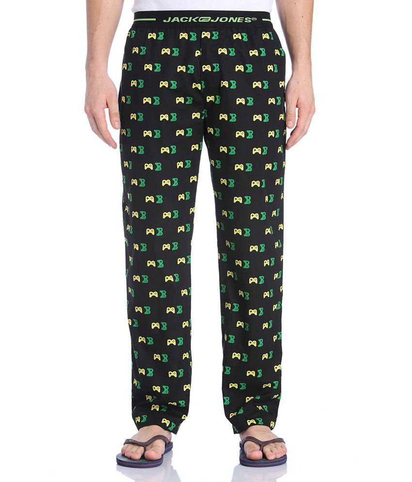 Jack & Jones Black Printed Pyjamas