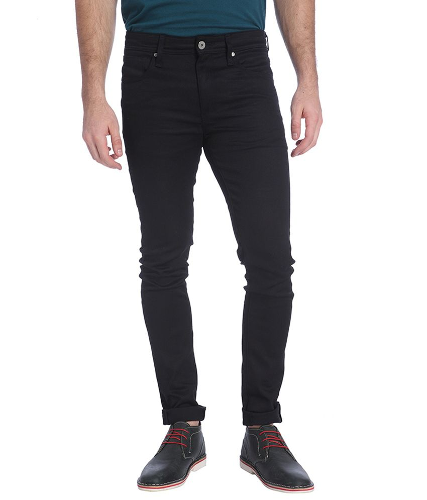 Jack & Jones Black Slim Fit Casual Trousers