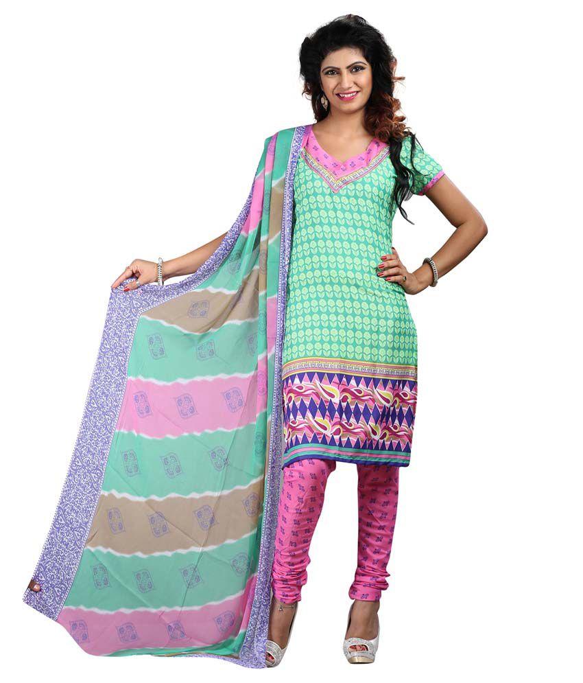 Masakali 01 Bhargav Textiles Multicolour Art Crepe Unstitched