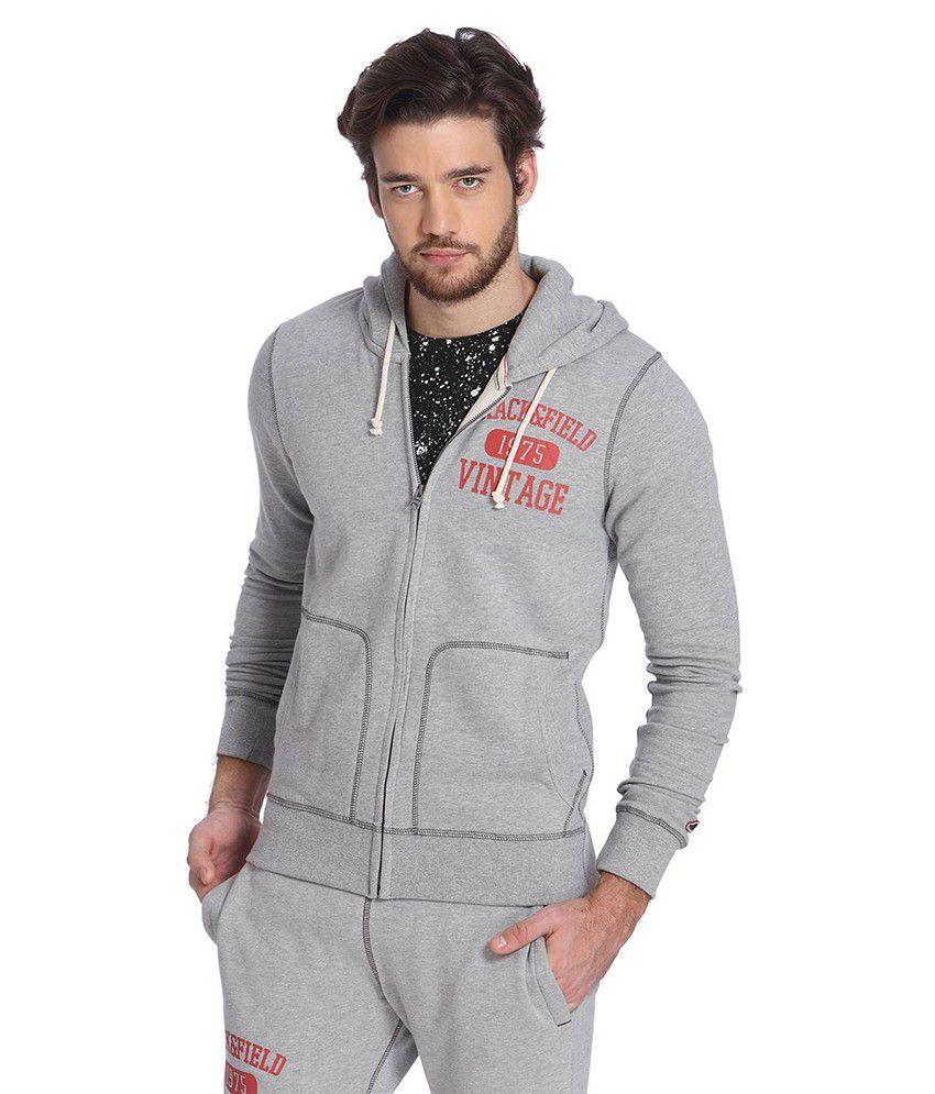 Jack & Jones Grey Hooded Sweatshirt
