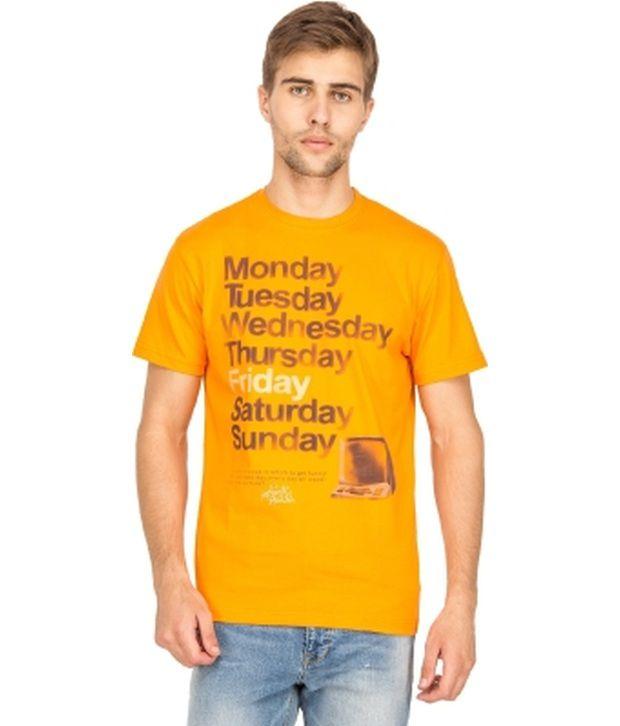 Blue Saint Yellow Cotton T-shirt