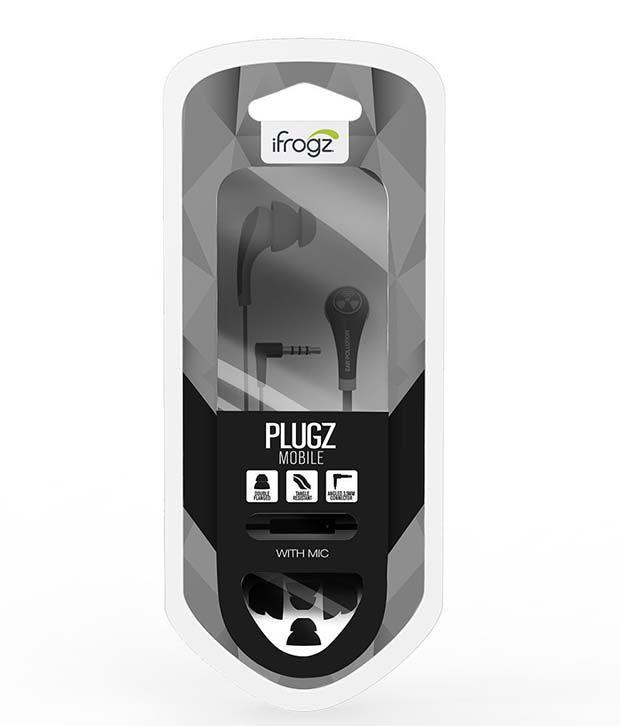 Zagg iFrogz Plugz Mobile IFPZMB In Ear Headset