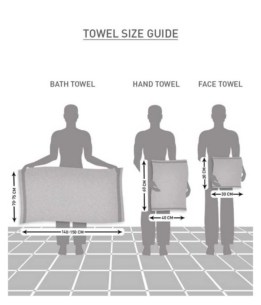 Face towel size