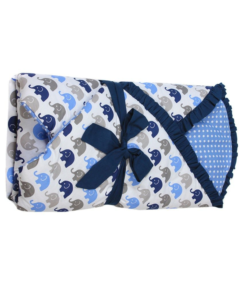 Bacati Multicolor Cotton Baby Wrap Baby Wrap/Baby Swaddle/Baby Sleeping Bag