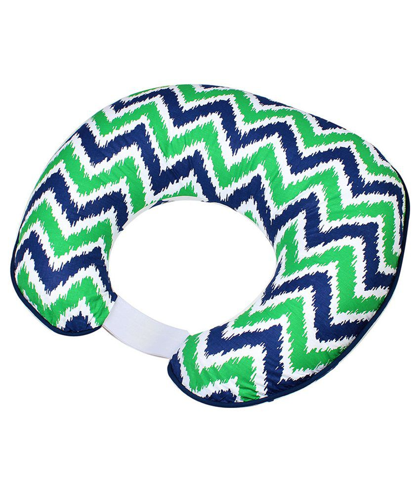 Bacati Multicolor Zigzag Nursing Pillow