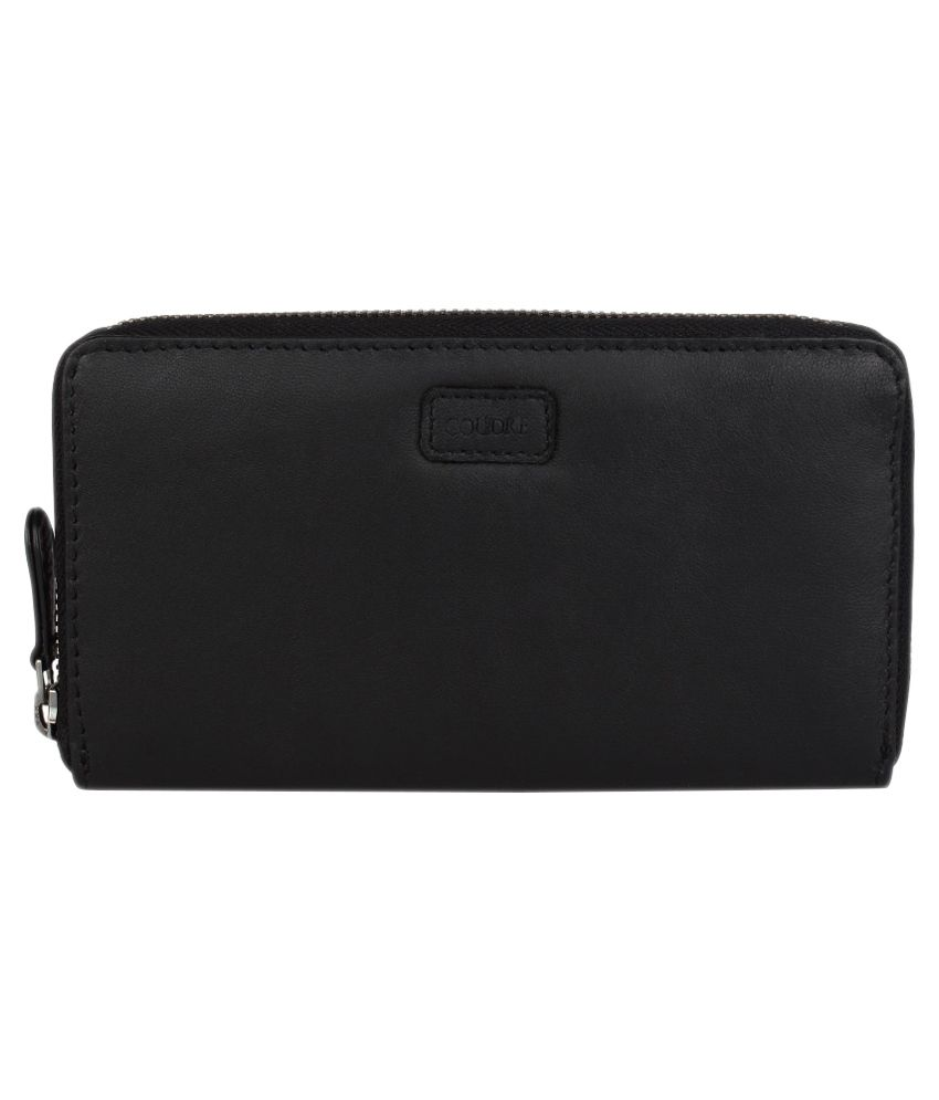 572cd90a6e2 Buy Coudre Black Leather Zip Formal Wallet For Women at Best Prices in India  - Snapdeal