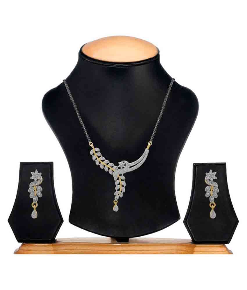 Youbella American Diamond Gold Plated Mangalsutra Set