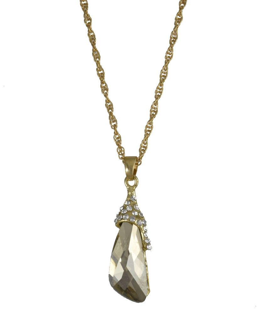 High Trendz Gold Alloy Pendant With Chain