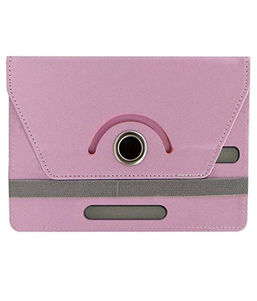 Jkobi Flip Cover For iBall Slide 6318i - Pink