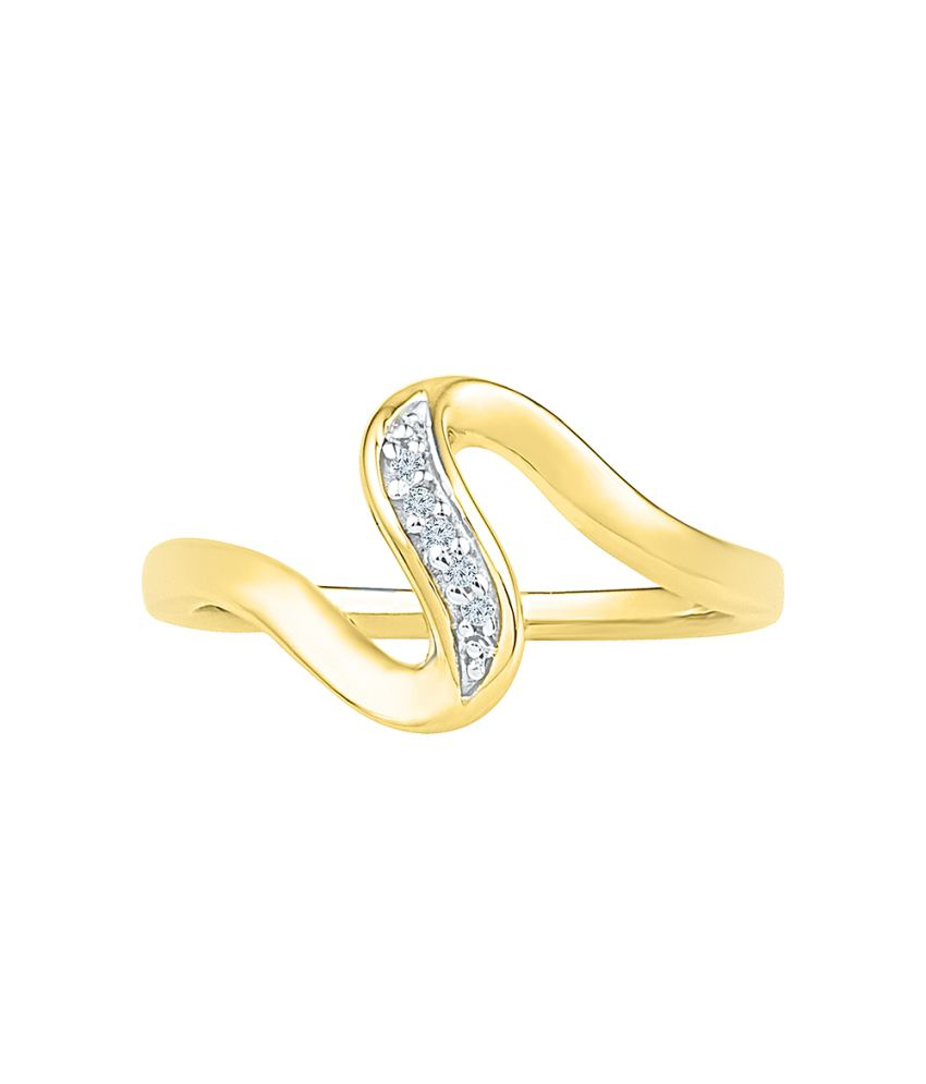 Radiant Bay 18kt Yellow Gold And Diamond Ring
