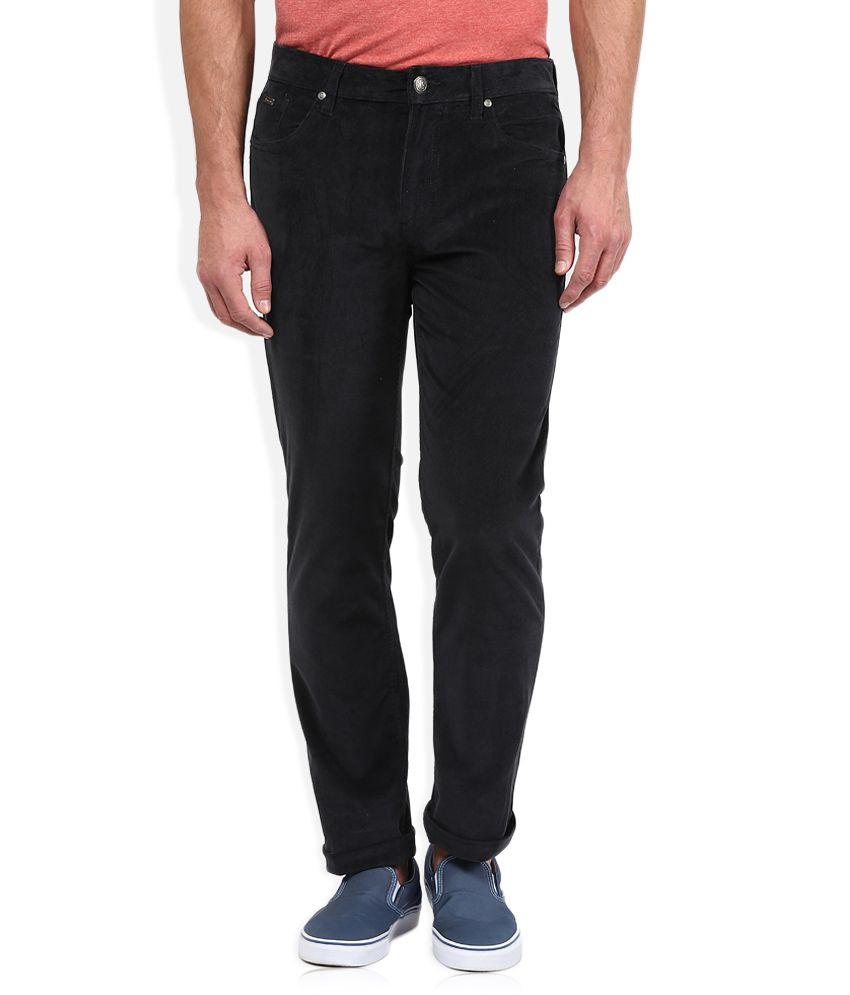 American Swan Dark Grey Slim Fit Trousers