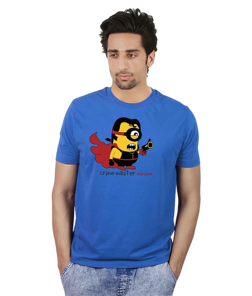 Booganz Blue Cotton Blend T- Shirt