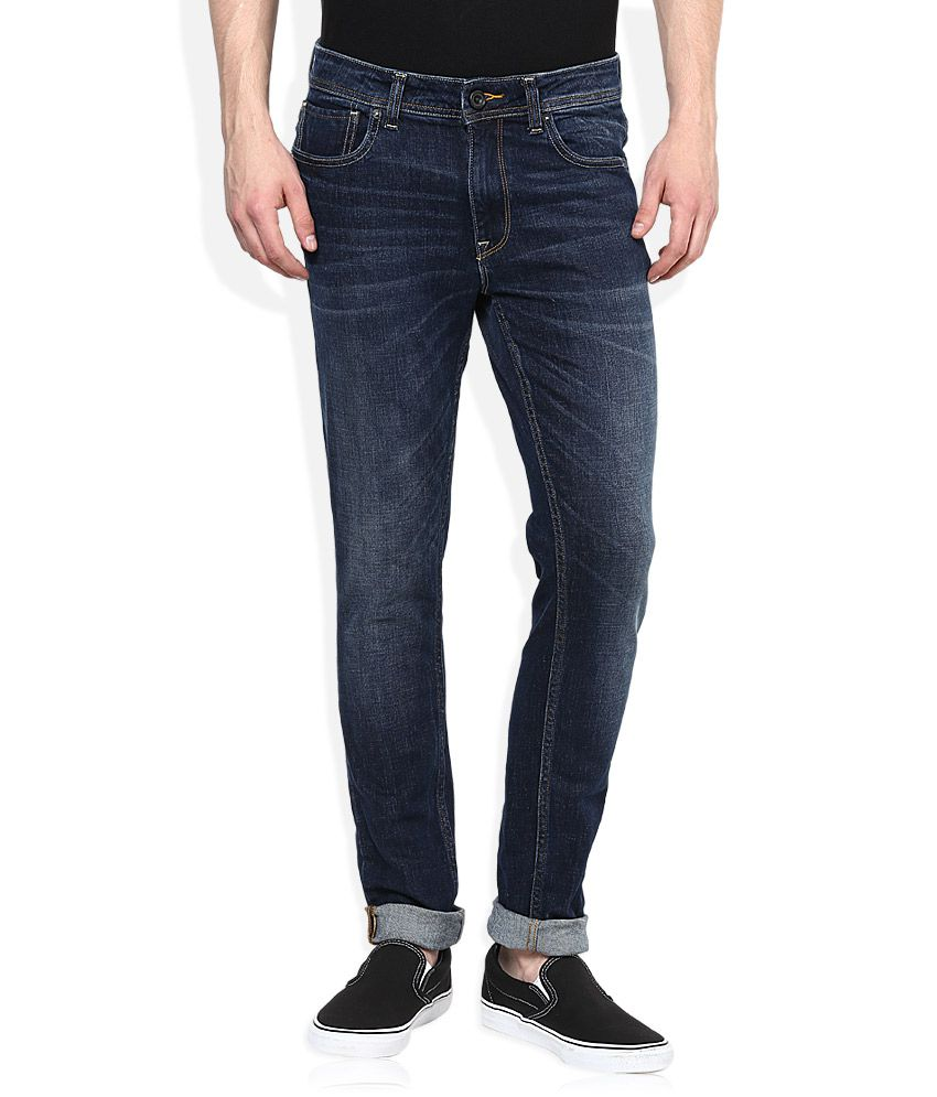 Voi Blue Medium Wash Skinny Fit Jeans